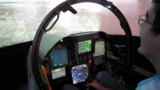 Flying a F-18 Super Hornet Simulator!