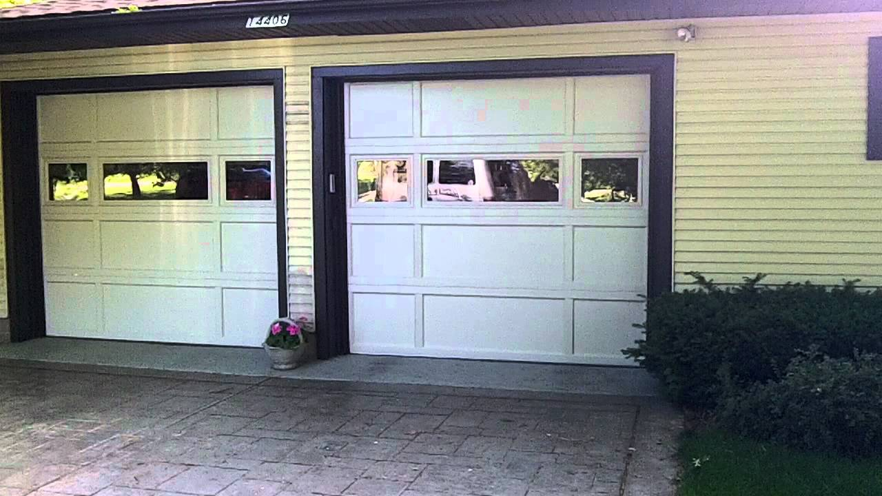 Chi 2298 2296 2294 Recessed Panel Garage Doors Youtube