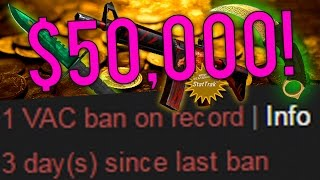 NEW CS:GO BIGGEST VAC BANNED INVENTORY EVER! ($50,000 In Rare Expensive Skins)