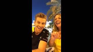Funny Q&A with Nico Hulkenberg (& Aurelie Donzelot) | F1 Bahrain GP 2019