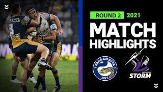 Eels v Storm Match Highlights   Round 2 2021   Telstra Premiership   NRL