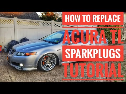 HOW TO REPLACE 2004-2008 ACURA TL  SPARK PLUGS AND IGNITION COILS TUTORIAL QUICK EASY