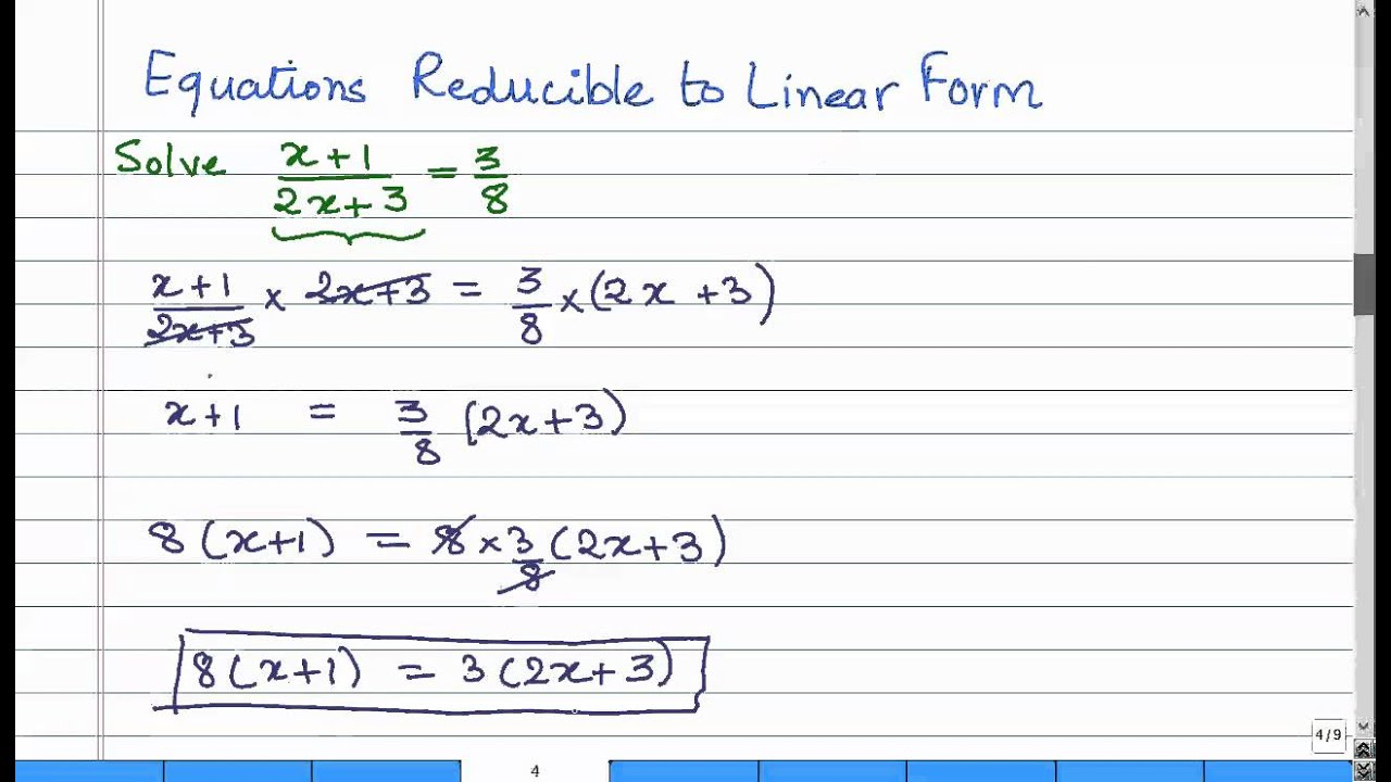 Ch02 15 reducing equations to linear forms cbse maths youtube ch02 15 reducing equations to linear forms cbse maths falaconquin
