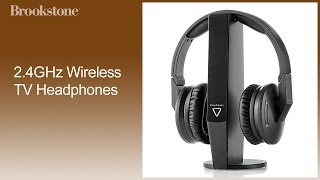 2.4GHz Wireless TV Headphones How to Use