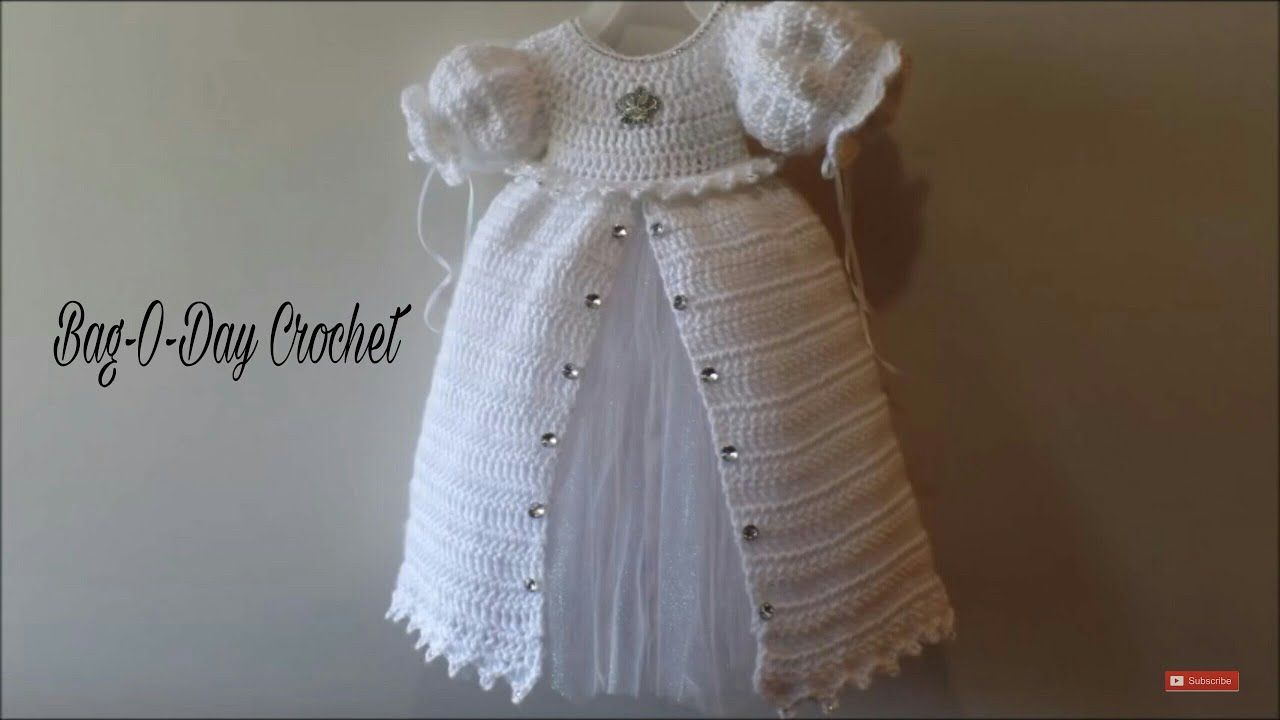 Crochet How To Crochet Baby Christening Gown Princess Dress
