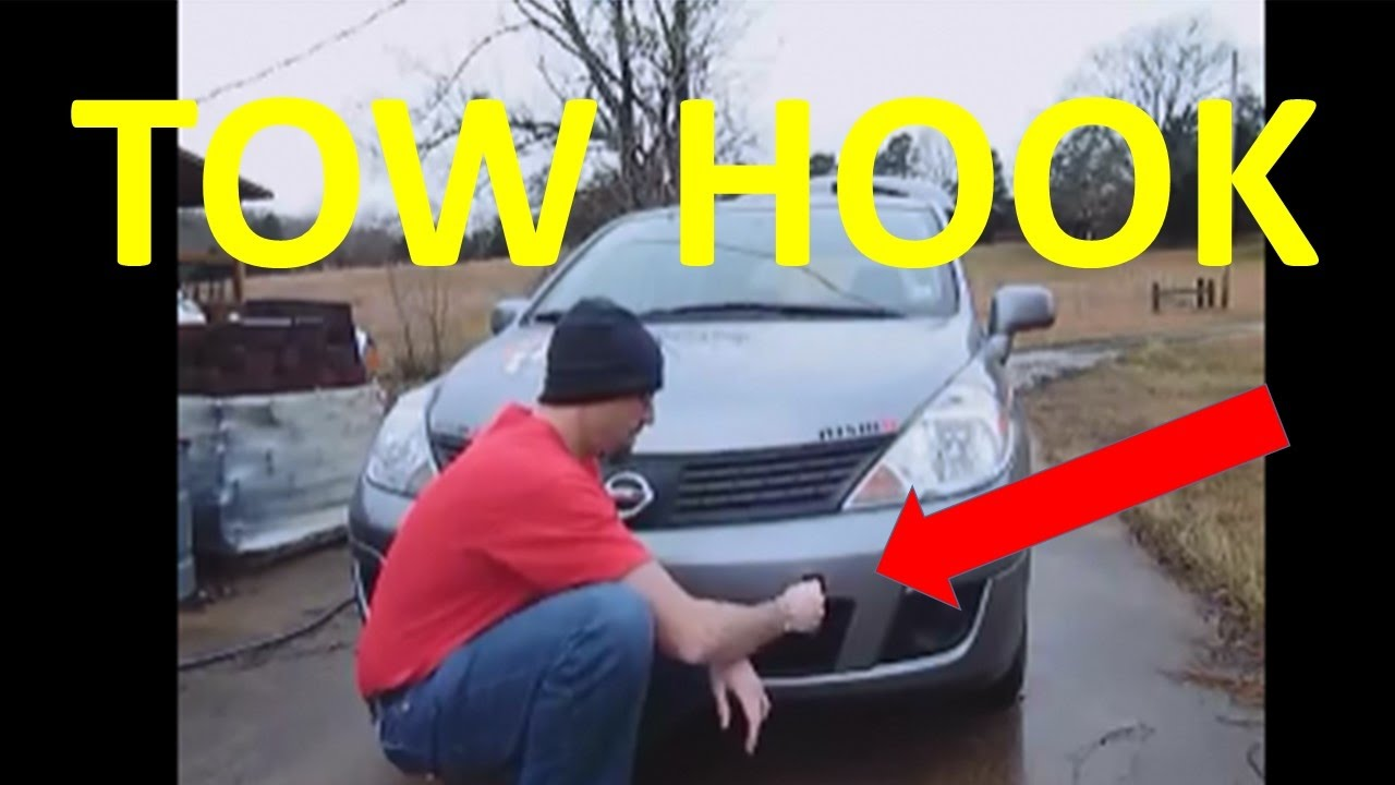 How Does My Nissan Versa Front Tow Hook Work? - YouTube