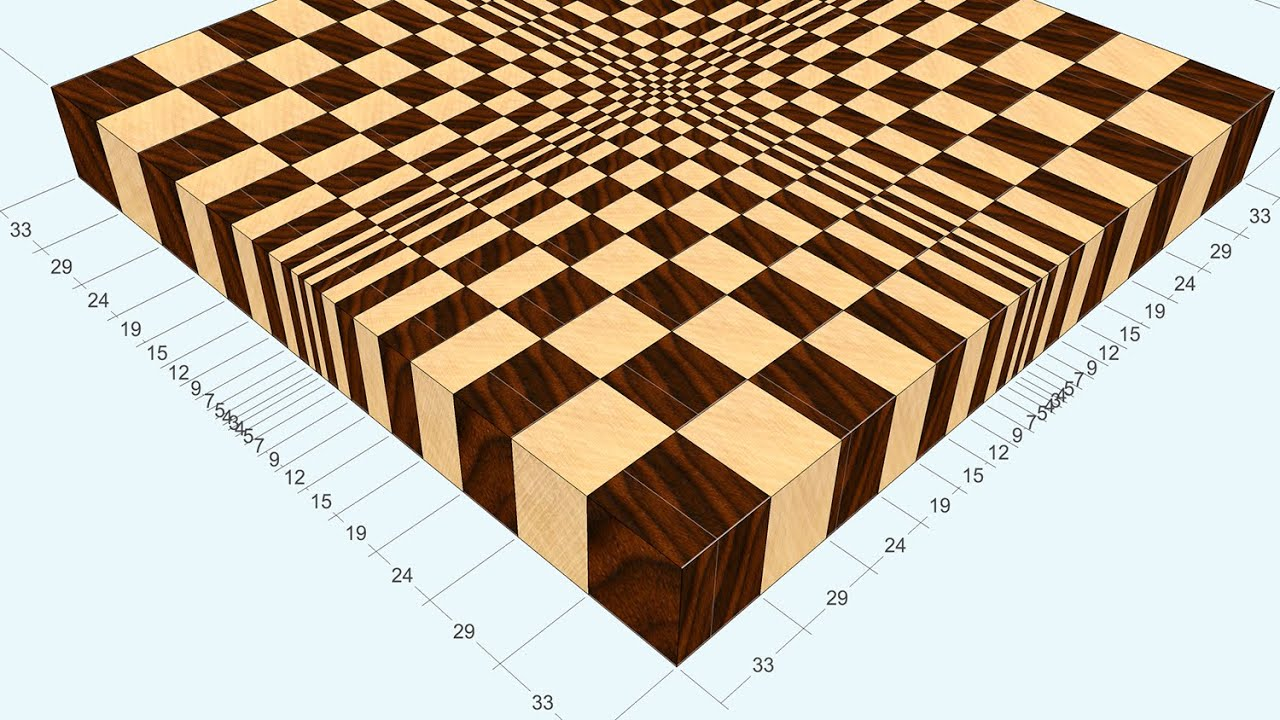 3d end grain cutting board 1 to make with the use of 13. Black Bedroom Furniture Sets. Home Design Ideas