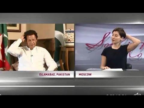Russian Anchor Sophie falls for Imran Khan,, interview Video got viral