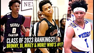 ESPN Class of 2023 Rankings Are OUT!! Mikey Williams, DJ Wagner, Bronny James.. WHO'S #1!?