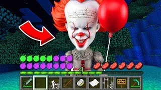 How to play PENNYWISE in Minecraft! Real life family PENNYWISE! Battle NOOB VS PRO Animation