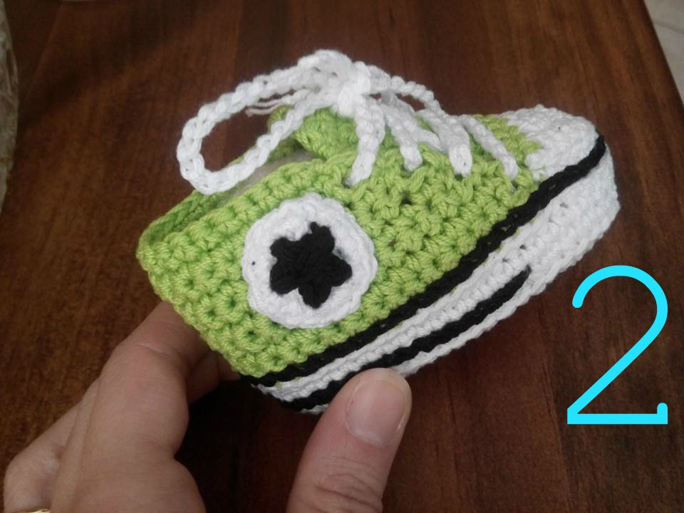 Tutorial Crochet How To Make Baby Shoes All Star Converse Youtube