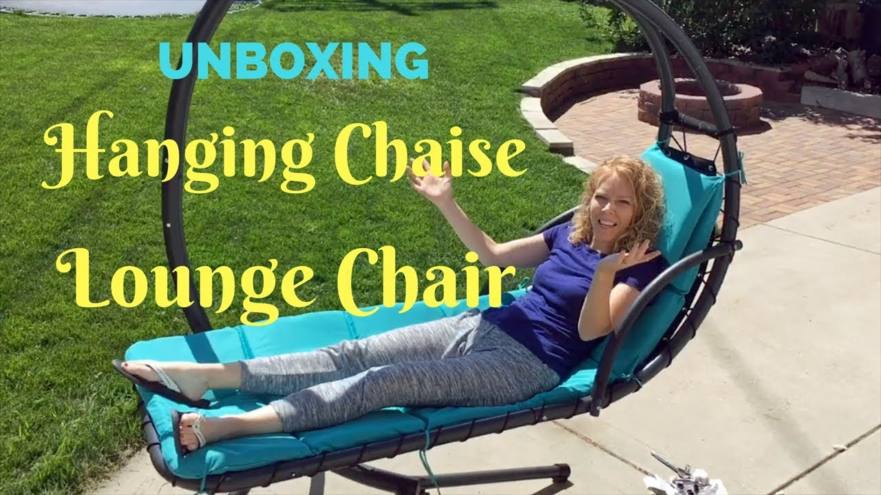 Hanging Chaise Lounge Chair Unboxing Youtube