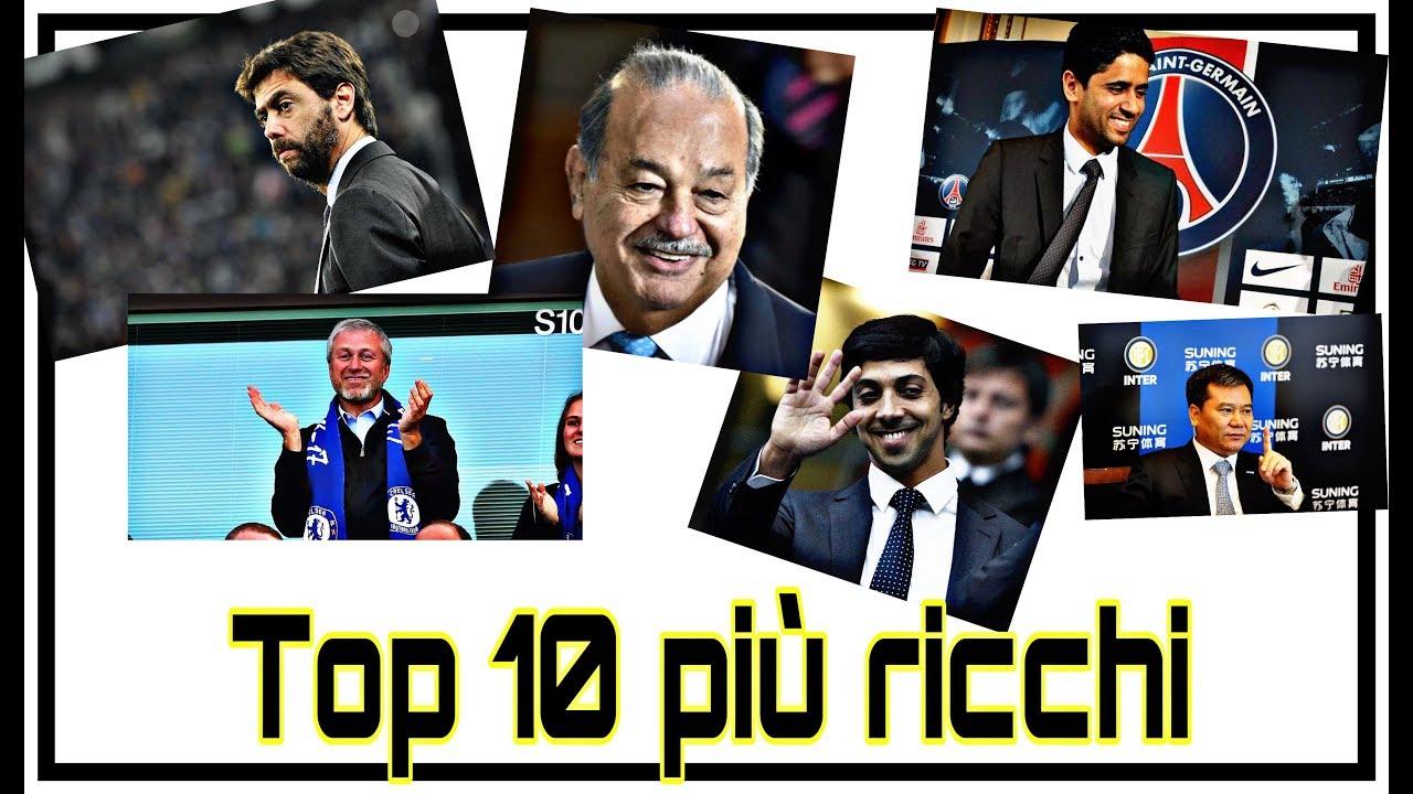 TOP 10 PROPRIETARI DI CLUB PIÙ RICCHI AL MONDO