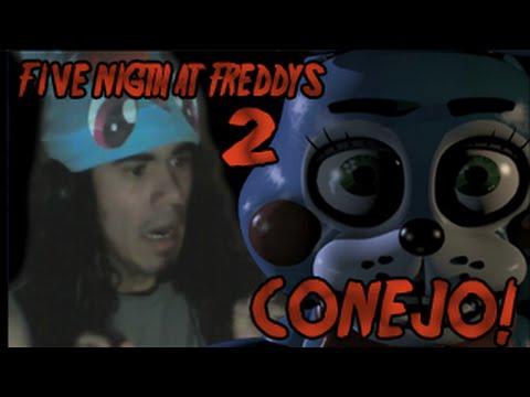 Jugando Five Nights at freddy's 2 DEMO - Noche 1 | AMIGO! CONEJO!