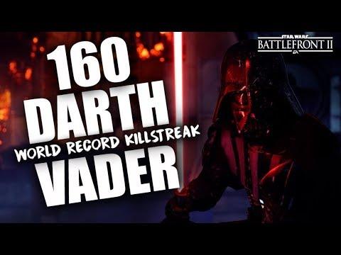 Battlefront 2 160 Darth Vader World Record Killstreak/Gameplay