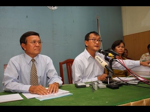 Election in Cambodia 2013    Video from fan at CNRP office