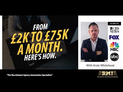 From £2K To £75K A Month In Your Recruitment/Search Business