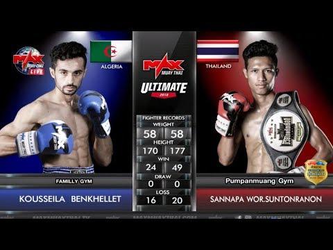 [มวยไทย] Kousseila Benkhellet (Algeria) Vs (Thai) Sanapa, Max Muay Thai, 08/April/2018