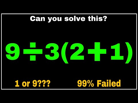 OPEN CHALLENGE :- CAN YOU SOLVE THIS ?? 1 or 9 ?? ONLY FEW PASS THIS TEST | BODMAS MATHS