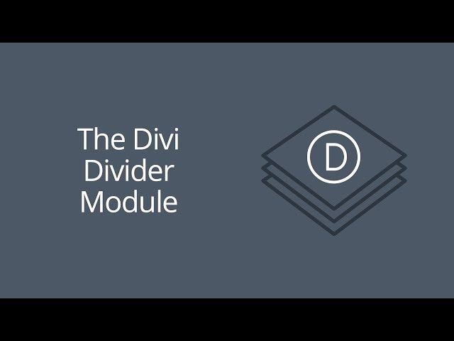 The Divi Divider Module