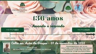 Culto Gratidão SAF 136 anos
