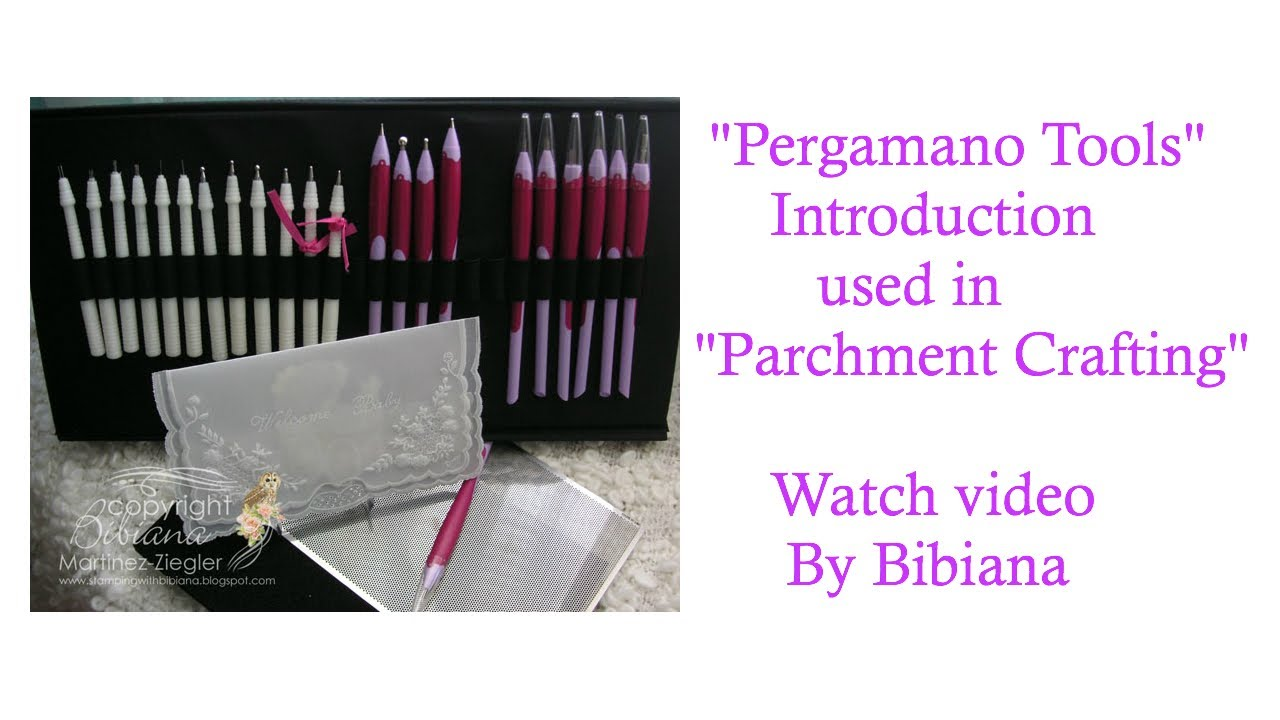 Quot Pergamano Quot Introduction To The Tools Used For Quot Parchment