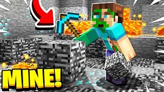 How to MINE Bedrock in Minecraft!