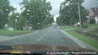 June 7, 2009 (6-7-09) Storm Chase - HD - Humboldt, Nebraska NE to Amity, Missouri MO - Large Hail