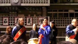 横浜中華街にてアントキノ猪木がカウントダウンのゲストに登場.