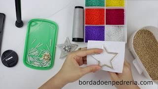 Clase de bordado, de Cómo bordar una estrella, tutorial, navidad, broche