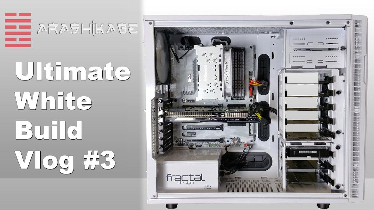 arashikage ultimate 2000 all white pc build vlog 3 phase i