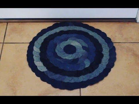 DIY: Denim Doormat / Rug - No Sew