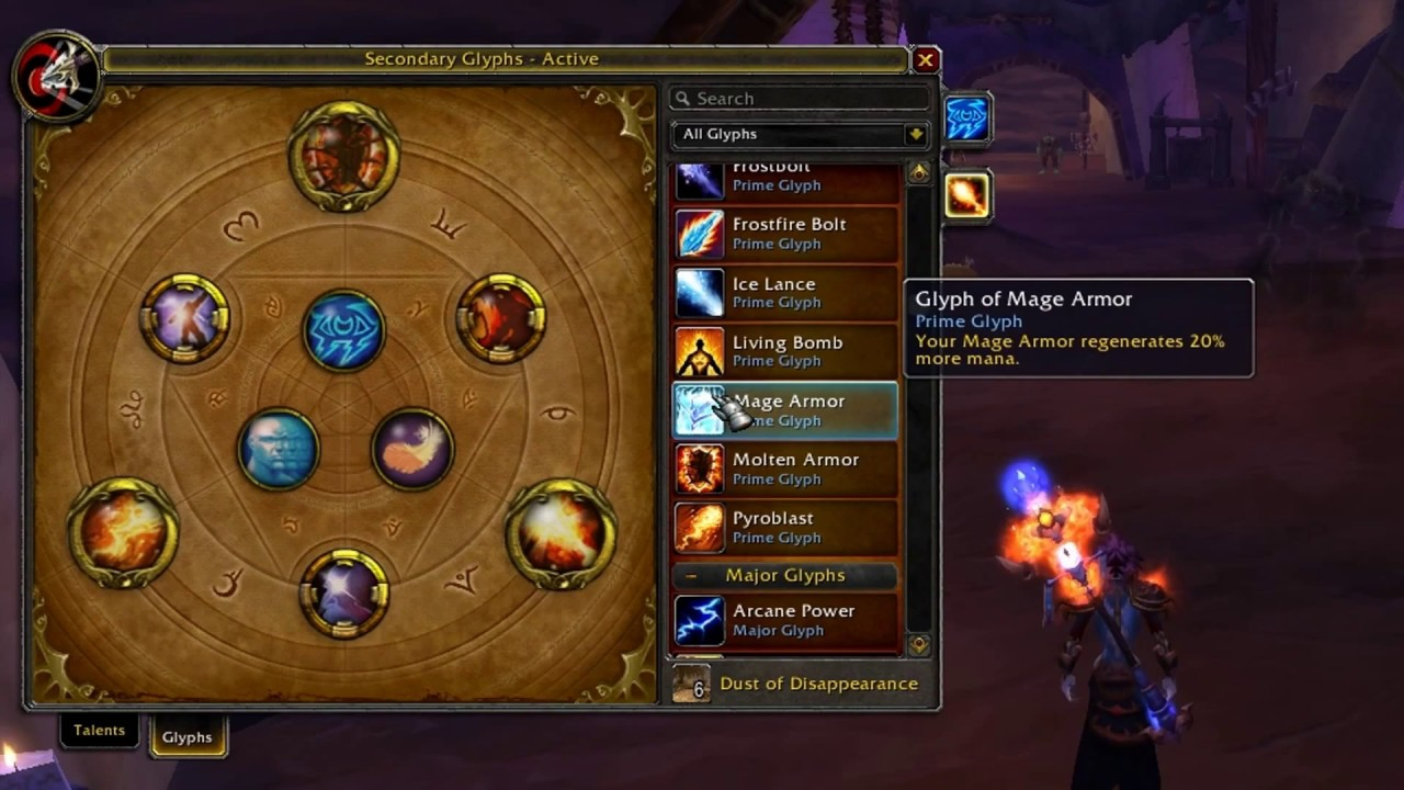 wow fire mage talents