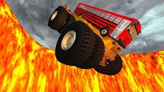 Beamng drive - Jumping In Volcano High Speed Car Jumps #2