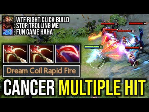 CANCER MULTIPLE HIT..!! Right Click Build Puck Rapid Fire 2x Daedalus by Bulldog 7.21d | Dota 2
