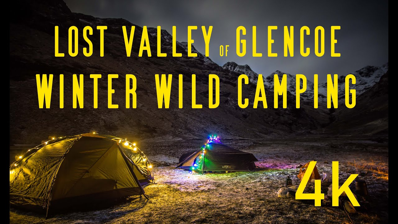 Lost Valley of Glencoe - WINTER WILD CAMPING - YouTube