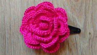 Роза крючком из ленты