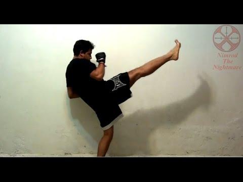 Como hacer la patada frontal con técnica de artes marciales, combate y defensa personal