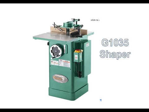 grizzly 1035 shaper set up and adjustment youtube rh youtube com