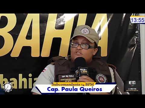 Meio-Dia e Meia Live hoje Subcomandante do 14ºBPM Cap. Paula Queiros