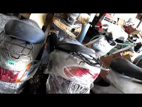 Прибытие и разгрузка контейнера с Японскими бу скутерами