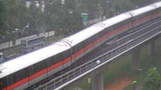 SMRT C751B Set 331/332 turnabout at Yew Tee Crossover (Off Svc to Northbound)