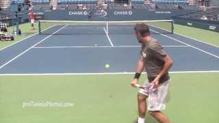 Wawrinka v. Lopez 2013 USO practice