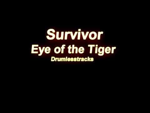 survivor eye of the tiger drumlesstrack youtube. Black Bedroom Furniture Sets. Home Design Ideas