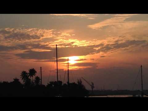 Beautiful sunset, batam waterfront