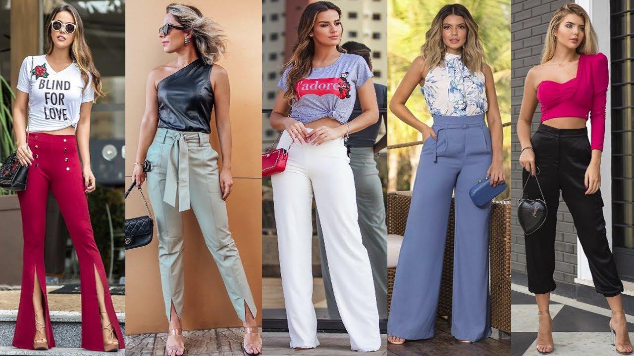 Pantalones En Tendencia 2020 2021 Looks Elegantes Y Casuales Con Pantalones De Moda Youtube