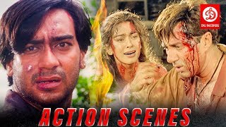 Ajay Devgan Vs Sunny Deol Best Action Scenes | Action Dhamaka Hindi Movie | Fight Action Scenes - HD