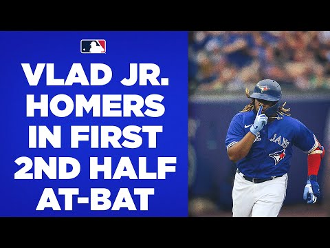 Vlad Guerrero Jr. HOMERS in his first at-bat of the second h