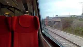 Leaving Nottingham On A East Midlands Trains Class 222 (04/4/15)