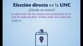 DONDE SE VOTA - ELECCION DIRECTA - #EleccionesUNC